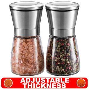 Automatiques Outil Condiment Moulin /à poivre de sel Grand 20 pouces 50cm Super Big Big Bois en bois de ch/êne et moulins /à poivrons en acier inoxydable Color : Brown wood