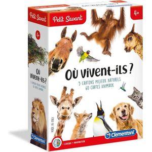 JEU D'APPRENTISSAGE CLEMENTONI Petit Savant - Où vivent-ils ? - 4 ans