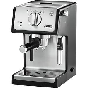 COMBINÉ EXPRESSO CAFETIÈRE Delonghi - machine à espresso 15 bars noir/métal -