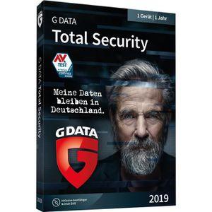 SYSTÈME D'EXPLOITATION G DATA Logiciel Total Security 2019 1 année(s) All