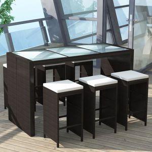 Jardin vidaXL Canapé dangle avec Table et Coussins Aluminium ...