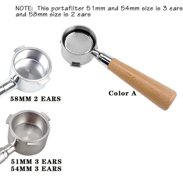 CAFE EN GRAINS Taille Portafiltre une couleur 51mm anneau de dosage pour CAFE EN GRAINS expresso , porte-filtre, entonnoir avec po