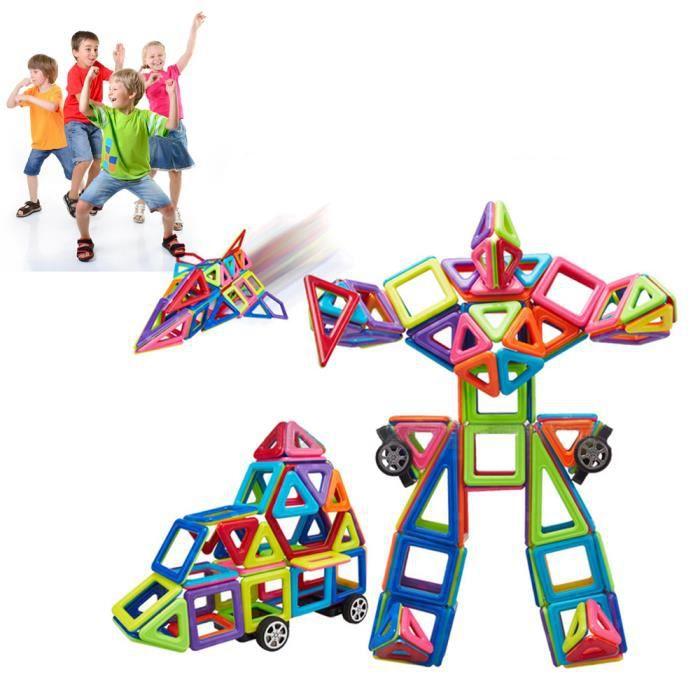 76PCS bâtiment construction magnétique jouets blocs éducatifs