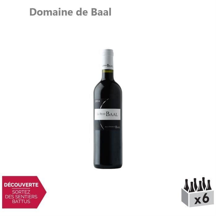 Le Petit Baal Rouge 2017 - Lot de 6x75cl - Domaine de Baal - Appellation . Bekaa - Vin Rouge - Origine Liban - Cépages Syrah, Merlot
