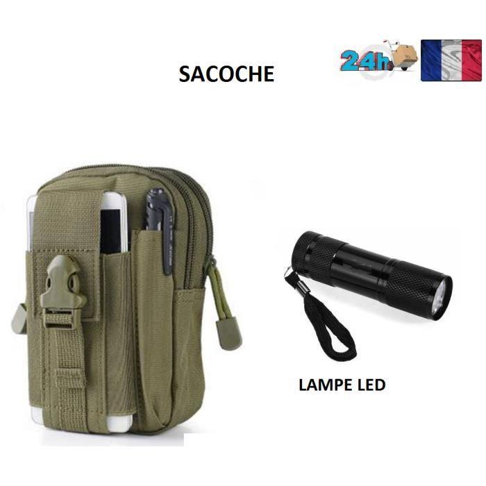 SACOCHE UNIVERSEL HOMME MOBILE CAMOUFLAGE ARMEE IPHONE SAMSUNG LG SONY COULEUR VERT IDEE CADEAU NOEL LAMPE OFFERT