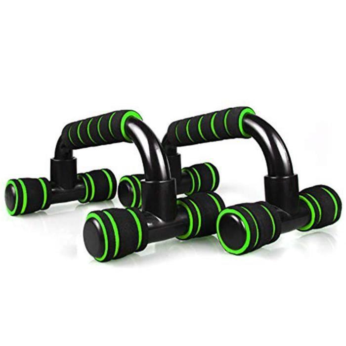 Poignée barre de poussée, support entraînement musculation poitrine,équipements fitness, texture éponge, 1 paire, [77EAA3A]