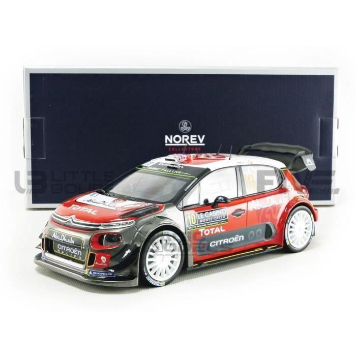 Voiture Miniature de Collection - NOREV 1/18 - CITROEN C3 WRC - Monte Carlo 2018 - Red / Gris / White - 181636