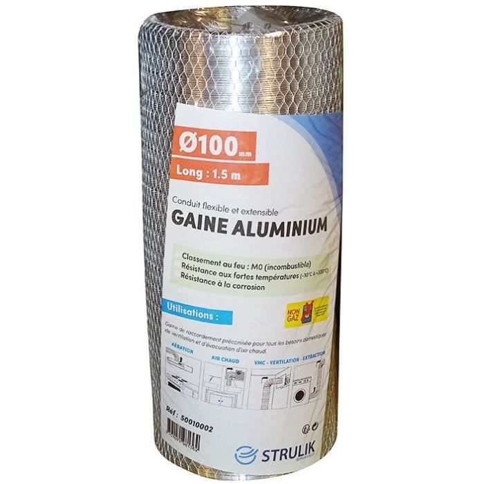 AUTOGYRE - Gaine flexible Aluminium Ø100 1.5ml filet