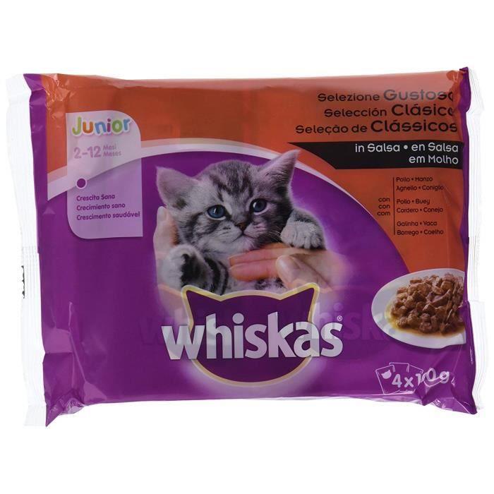 whiskas Sachets pour Chat Junior sélection de viandes – [Pack de 13]