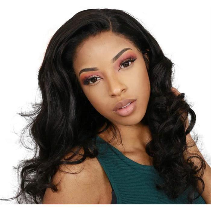 Perruque Naturel color 8 pouce body wave Human Hair 13x4 Lace Frontal wig Cheveux Bresilienne Vierge