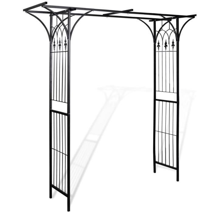 🏡2104Luxueux Magnifique Arches de jardin pour Plantes Grimpantes et Rosiers Décor - Arceau de jardin Pergola à appentis -200 x 52 x