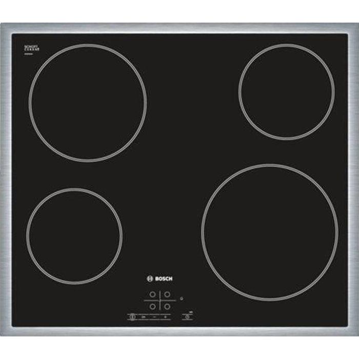 Plaque de cuisson vitrocéramique BOSCH PKE645B17E