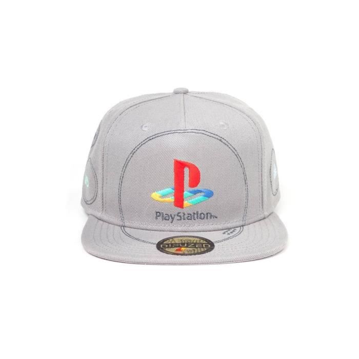 Casquette Ajustable Playstation - Silver Logo Snapback