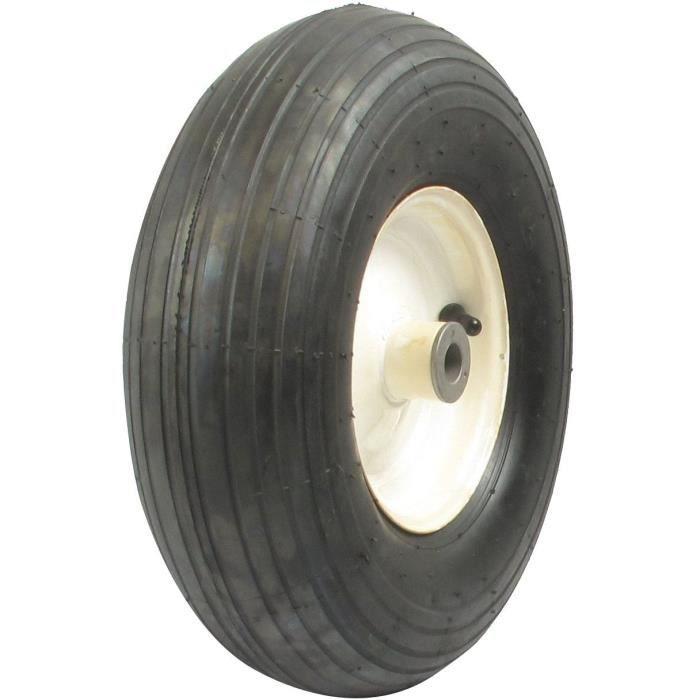 Roue sur Bagues avec 400 x 6 - 2 plis pour notre remorque (HDC10L) - Ø: ext: 350mm - Long moyeu: 90mm - alésage:18,70mm