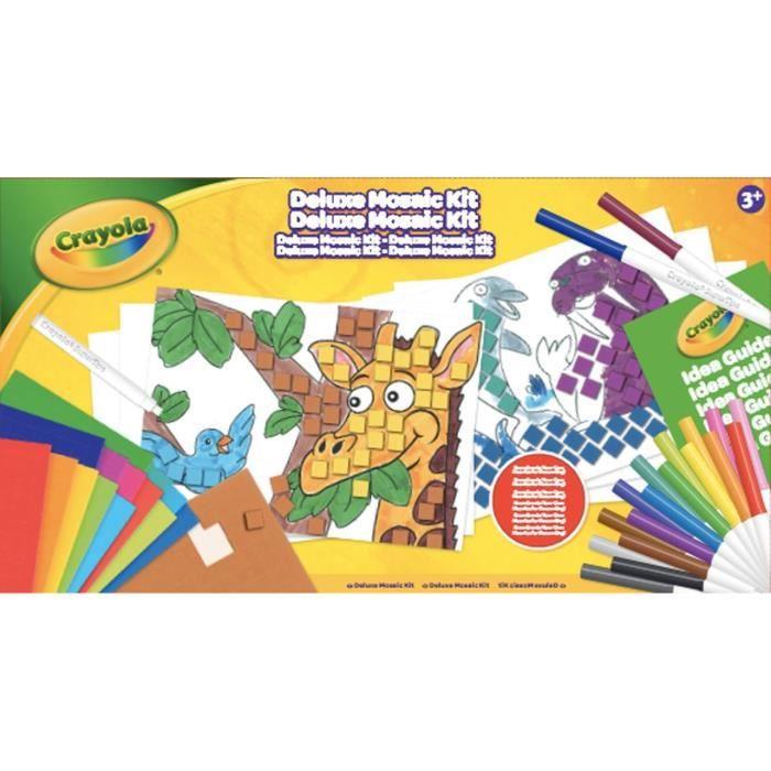 Crayola - Coffret de Mosaïque - Activités pour les enfants - Kit Crayola