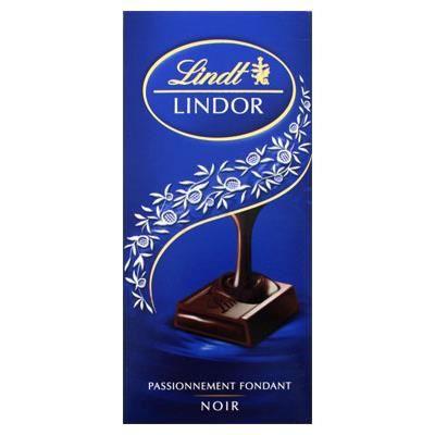 Lindt tablette de chocolat Lindor noir 150g