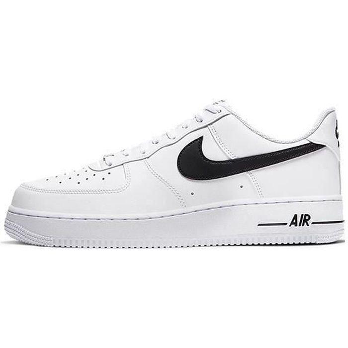 Air Force 1'07 Chaussures de Course Blanc Noir pour Homme Femme
