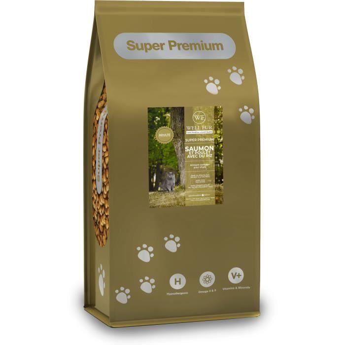 Croquettes pour chat Super Premium saumon pour chats (7.5kg)