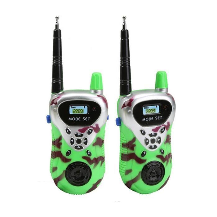 2 pcs Jouet enfant Walkie-talkie sans fil Salle interactive parents-enfants Jouets d'extérieur jouet d'activité