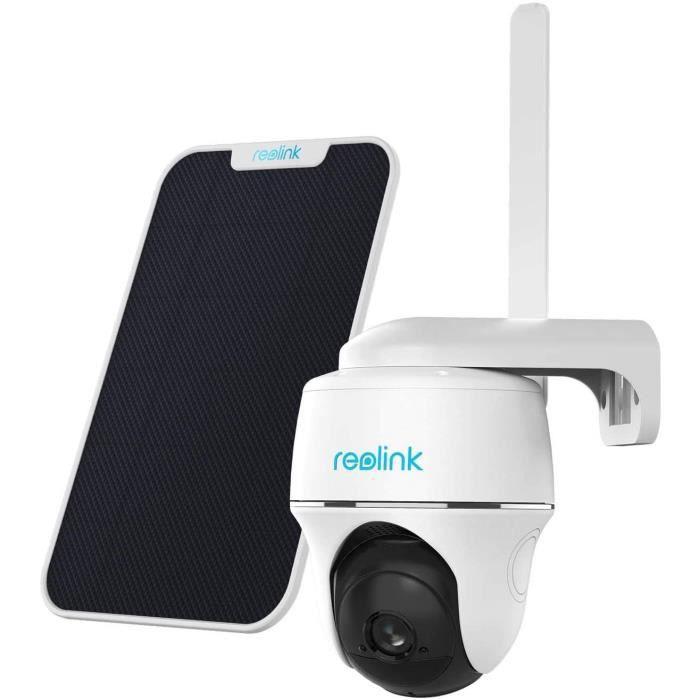 Reolink Go PT+Panneau Solaire 3G-4G LTE 1080P Caméra Surveillance sans Fil sur Batterie Extérieure Supporte SIM Carte