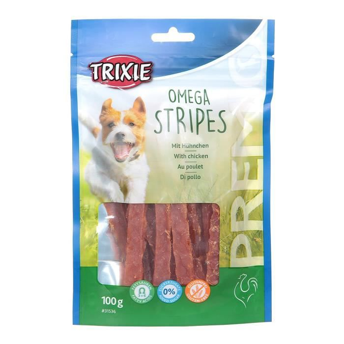 TRIXIE PREMIO Omega Stripes poulet 100 g pour chien
