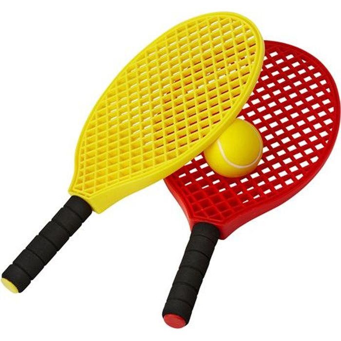 Lot de 2 raquettes + balle tennis initiation