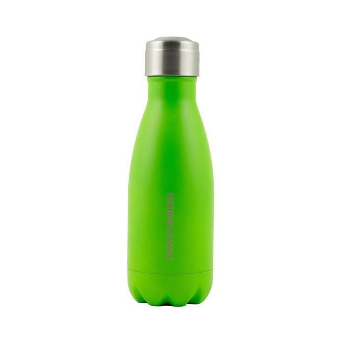 YOKO DESIGN Bouteille isotherme double paroi 260 ml vert mat
