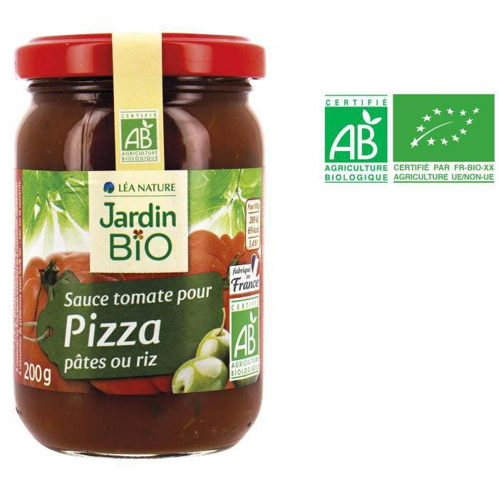 Sauce tomate pizza 200 g Jardin Bio