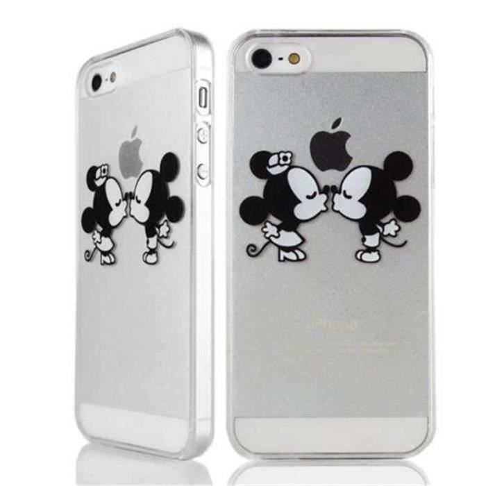 housse protecteur coque iphone 5 5s mickey minnie