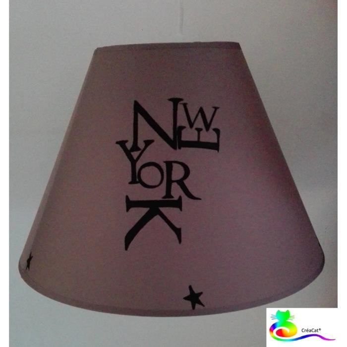 Lampe ou suspension lustre creacat peint main new york for Lustre ou suspension