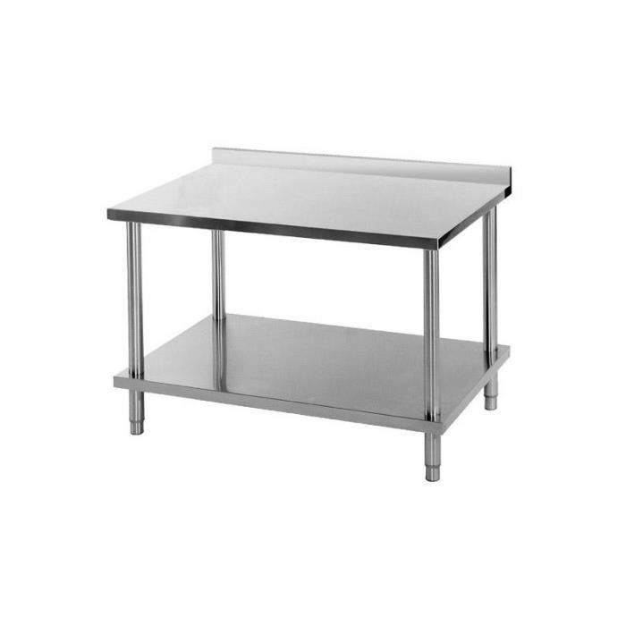 Table inox murale 700 x 800 achat vente table de for Table cuisine inox