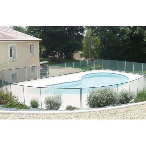 Barriere de piscine beethoven noire piquets noirs 2 for Barriere piscine souple