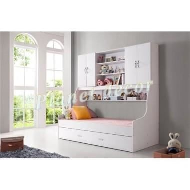 lit multifonctions doremi blanc achat vente lit. Black Bedroom Furniture Sets. Home Design Ideas