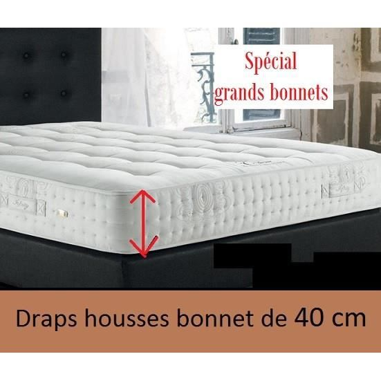 bonnet de 40 cm coton 57 fils drap housse 90x200 uni ficelle linge maison des vosges qualit. Black Bedroom Furniture Sets. Home Design Ideas