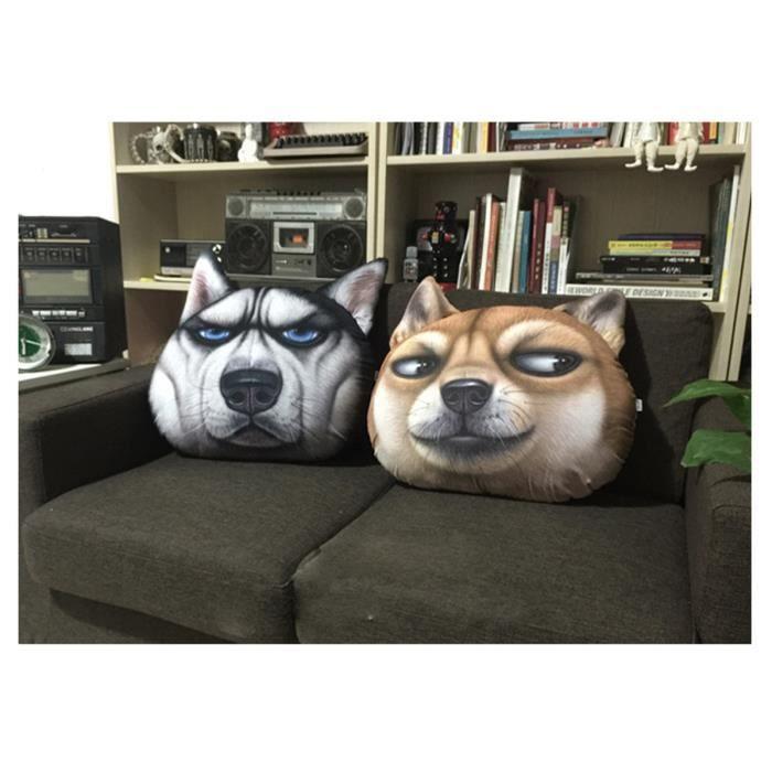 COUSSIN 3D Shiba Coussin décoratif animal décoration maiso
