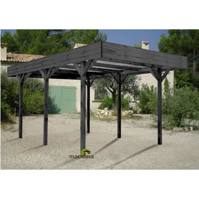 madeira carport bois pin lasur 1v 13 10 m achat vente carport carport bois lasur 13 10 m. Black Bedroom Furniture Sets. Home Design Ideas