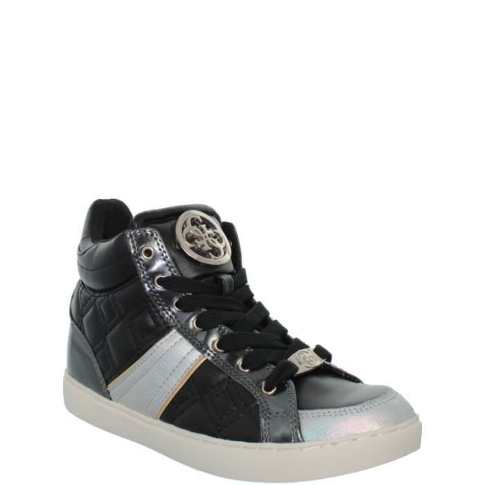 Guess Basket  Like ref_gue37319-grey Grey - Chaussures Basket montante Homme