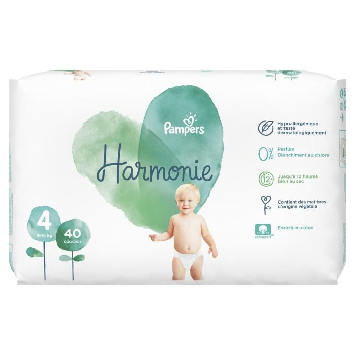 Pampers Harmonie Taille 4 9 14 Kg 40 Couches Achat Vente