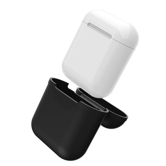 Coque Silicone Pour Airpods 2 Apple Boitier De Charge Grip Housse Protection Noir Achat Vente Boitier Coque De Clé Coque Silicone Pour Airpods 2 Cdiscount