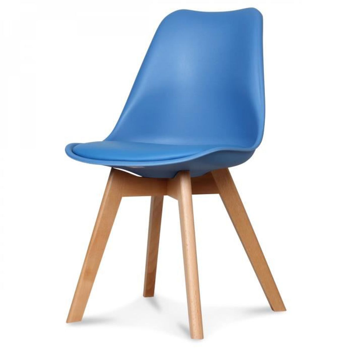 chaise scandinave bleu cdiscount