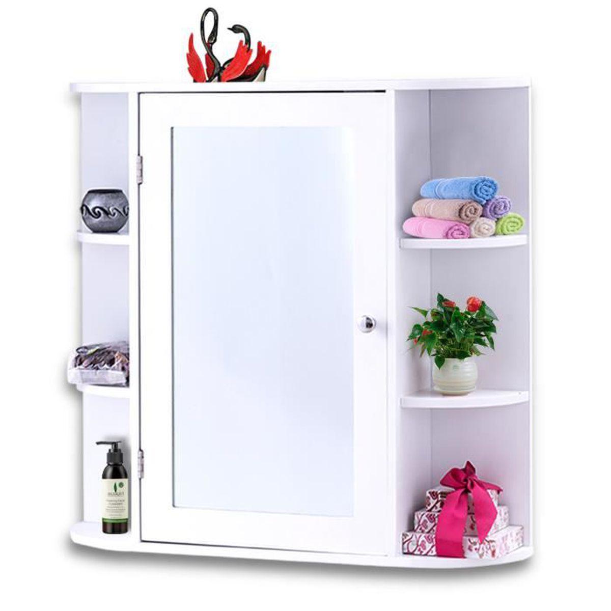 Meuble Haut Salle De Bain Avec Miroir miroir armoire etagere salle de bain