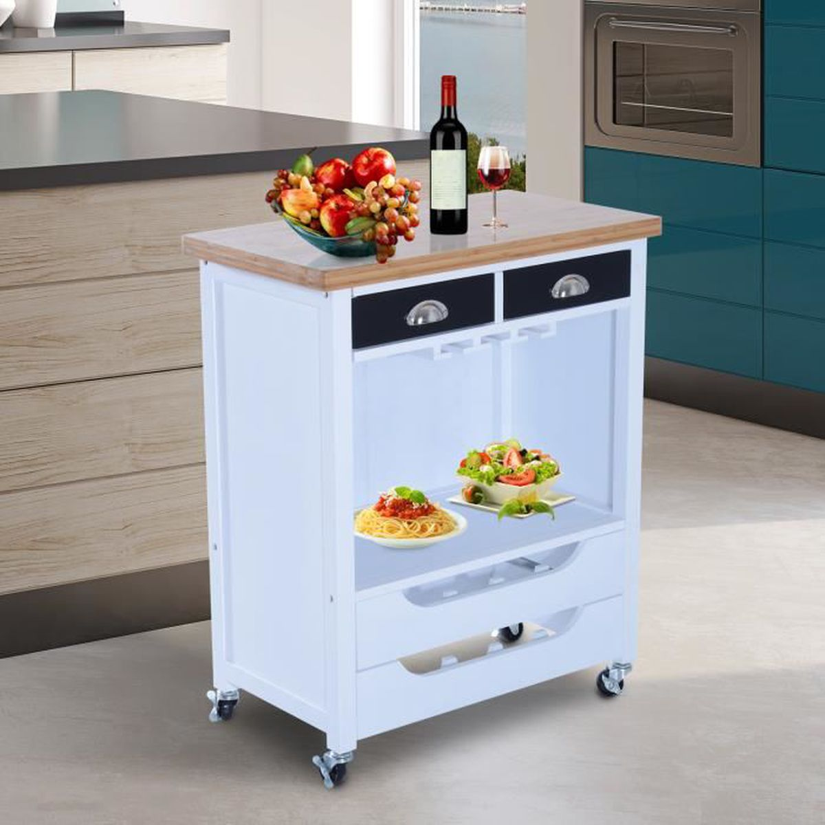 affordable desserte billot desserte cuisine roulettes chariot de service av with dessertes de. Black Bedroom Furniture Sets. Home Design Ideas