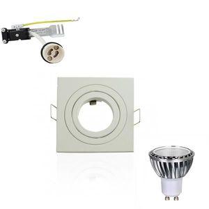 PLAFONNIER Kit Spot LED GU10 5W Carré Lumière 50W Blanc Neutr