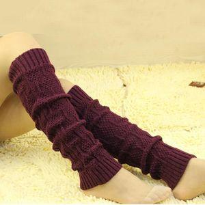 VIN ROUGE Câble Knit Jambières Chaussettes de vin rouge fémi