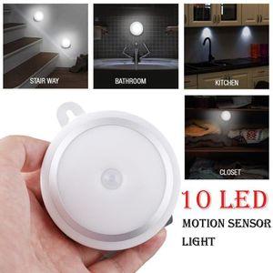 BANDE - RUBAN LED 10 LED sans fil Détecteur de mouvement mural batte