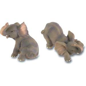 STATUE - STATUETTE Lot de 2 - Figurine - statuette animal Eléphant