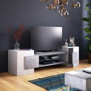 MEUBLE TV Meuble TV / Meuble de salon - GAELIN - 160 cm - bl