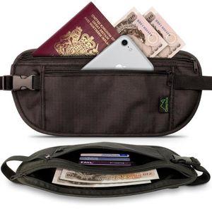 Cuir véritable zippé Bum Ceinture Sac Sécurisé Taille//Bum Sac De Voyage étui de ceinture UK