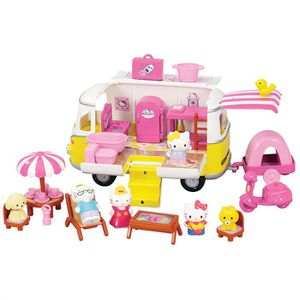 UNIVERS MINIATURE Hello Kitty Camping Car - 5 Figurines