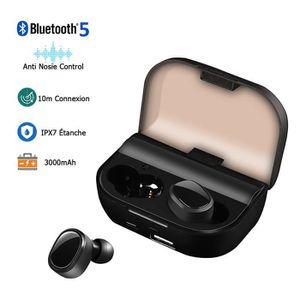 CASQUE - ÉCOUTEURS LAMZIEN Écouteurs Bluetooth 5.0 sans Fil Sport 300